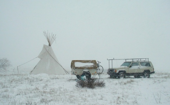 Blizzard in Indian Country  ©tipiman 2001